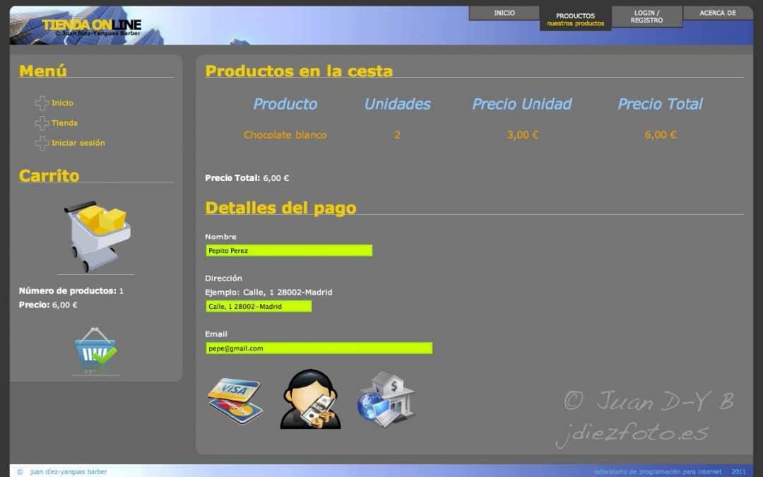 Ejemplo JavaEE. Tienda Online